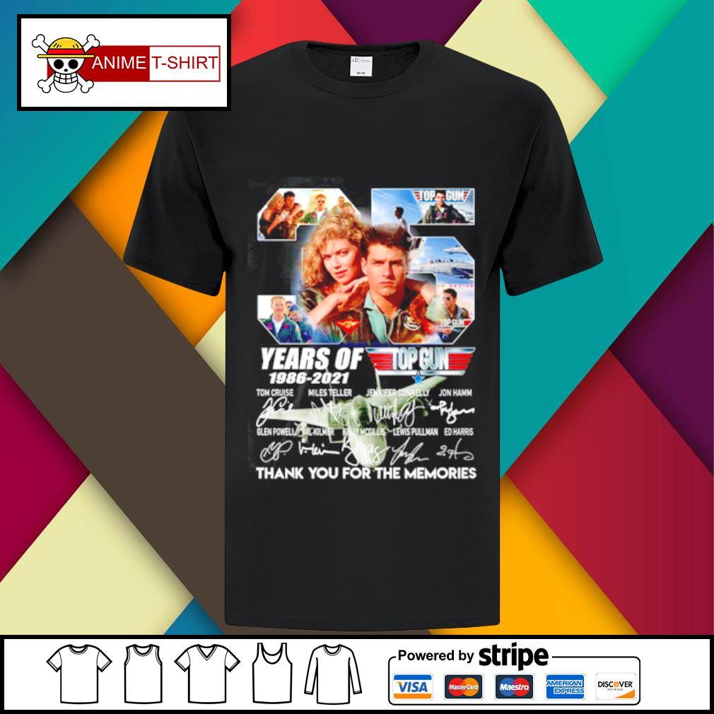 35 years of 1986 2021 Top gun signature shirt