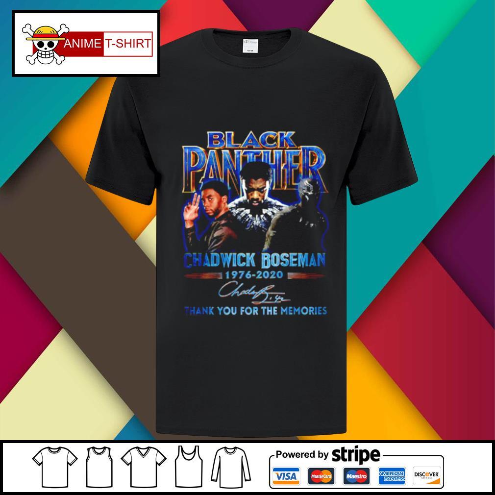 Black Panther Chadwick Boseman 1976 20202 signature shirt