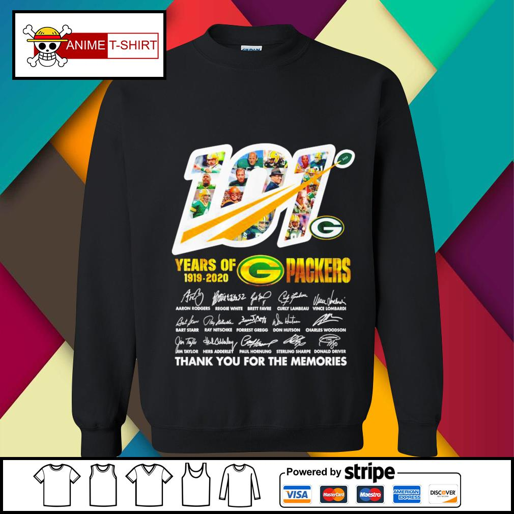 101 years of 1919 2020 Packers signature s sweater