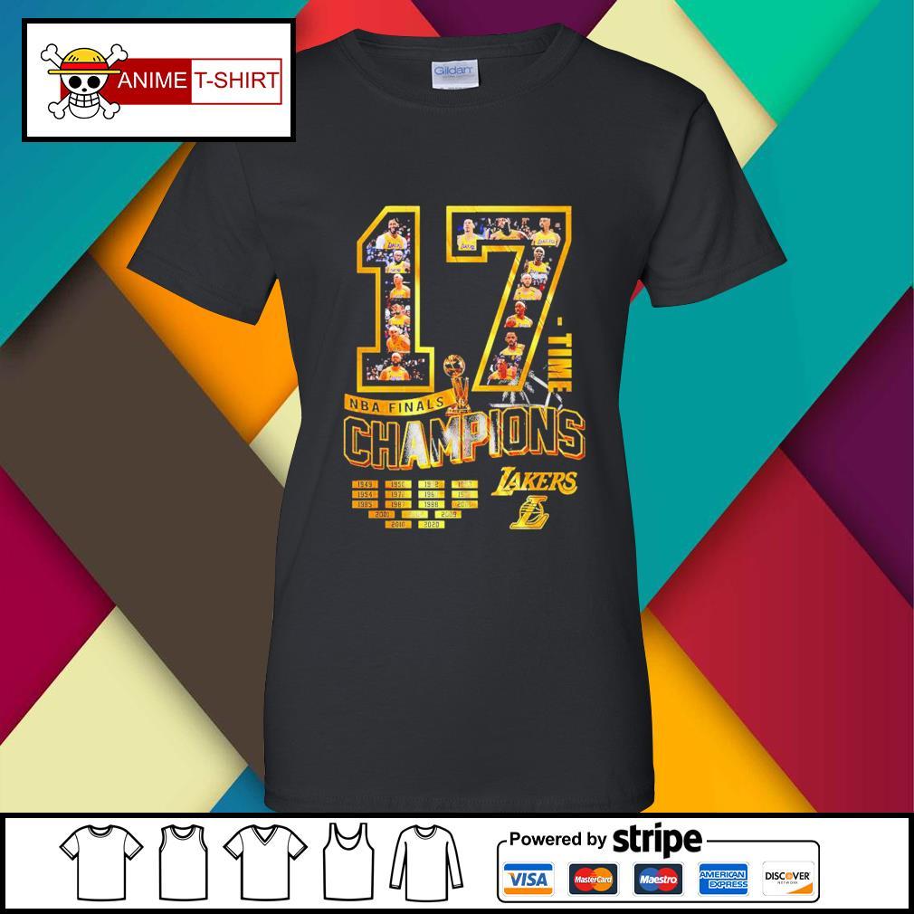 17 Time NBA Finals Champions Lakers Shirt ladies-tee