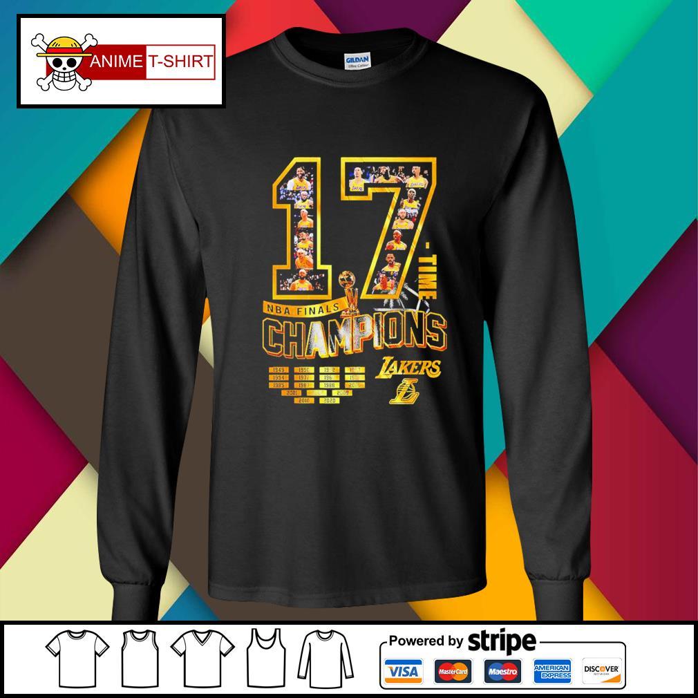 17 Time NBA Finals Champions Lakers Shirt longsleeve-tee