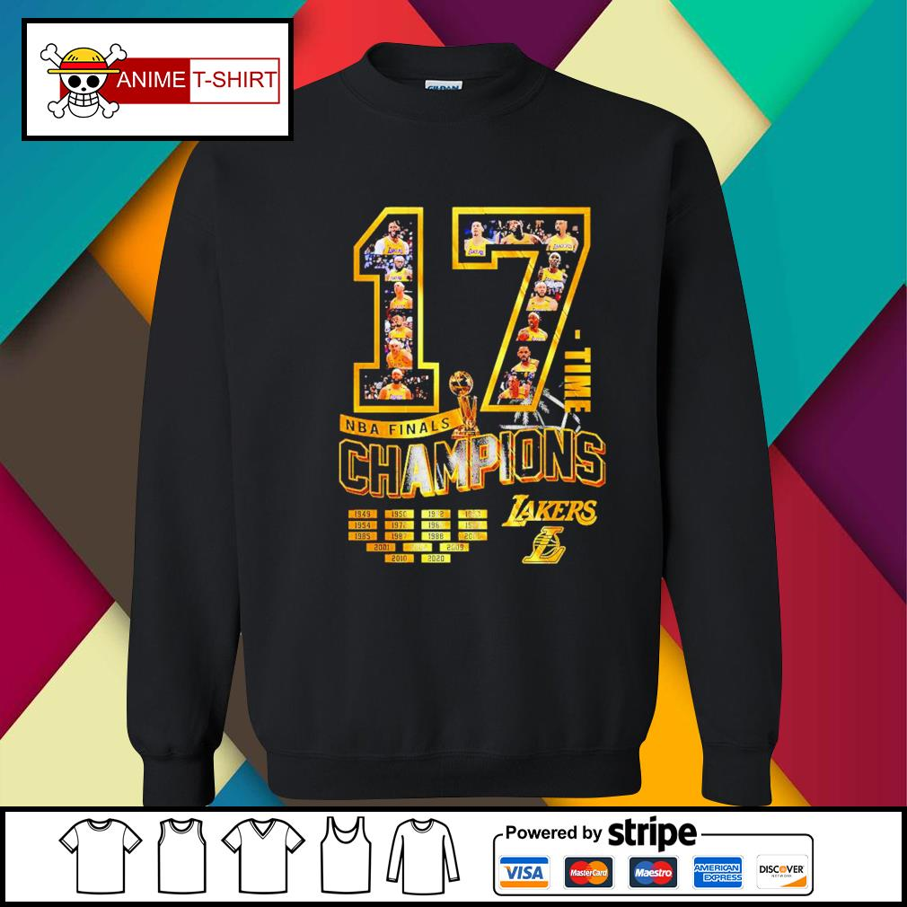 17 Time NBA Finals Champions Lakers Shirt sweater