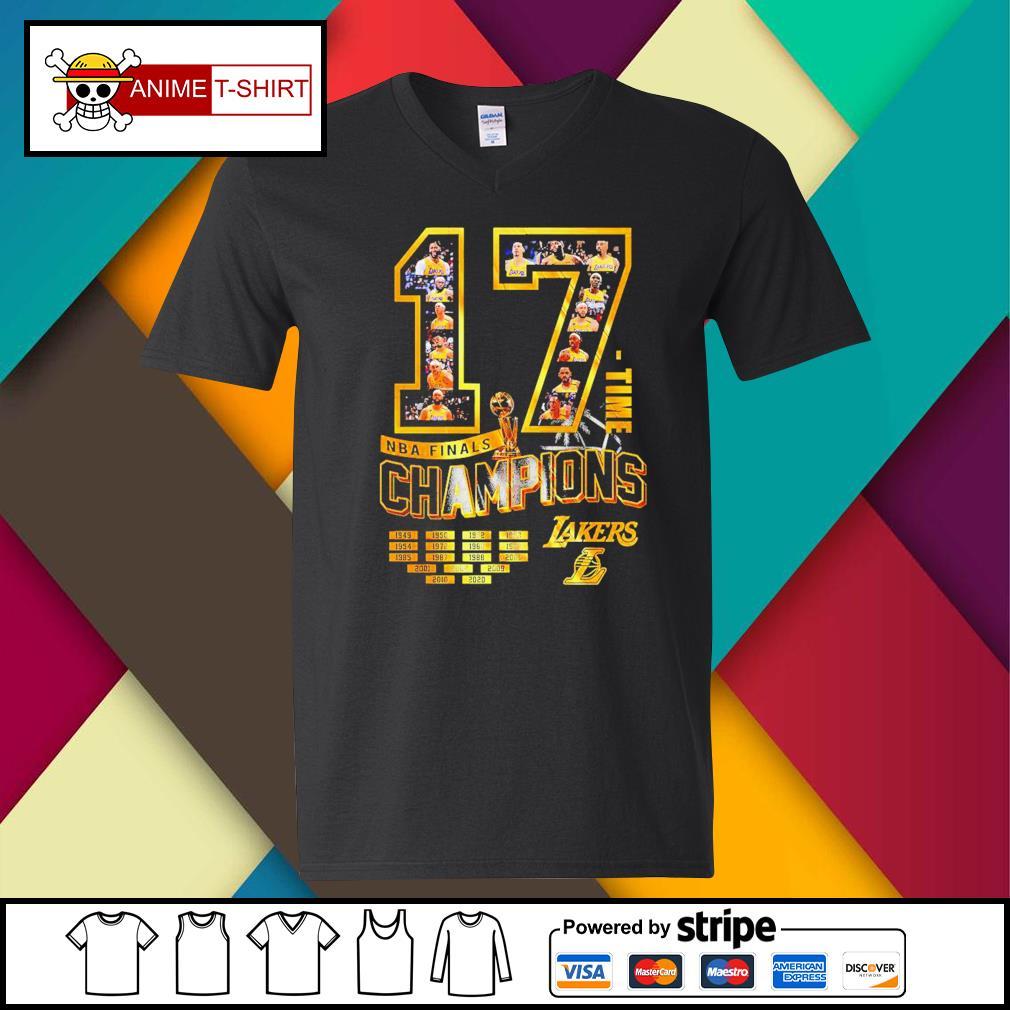 17 Time NBA Finals Champions Lakers Shirt v-neck-t-shirt