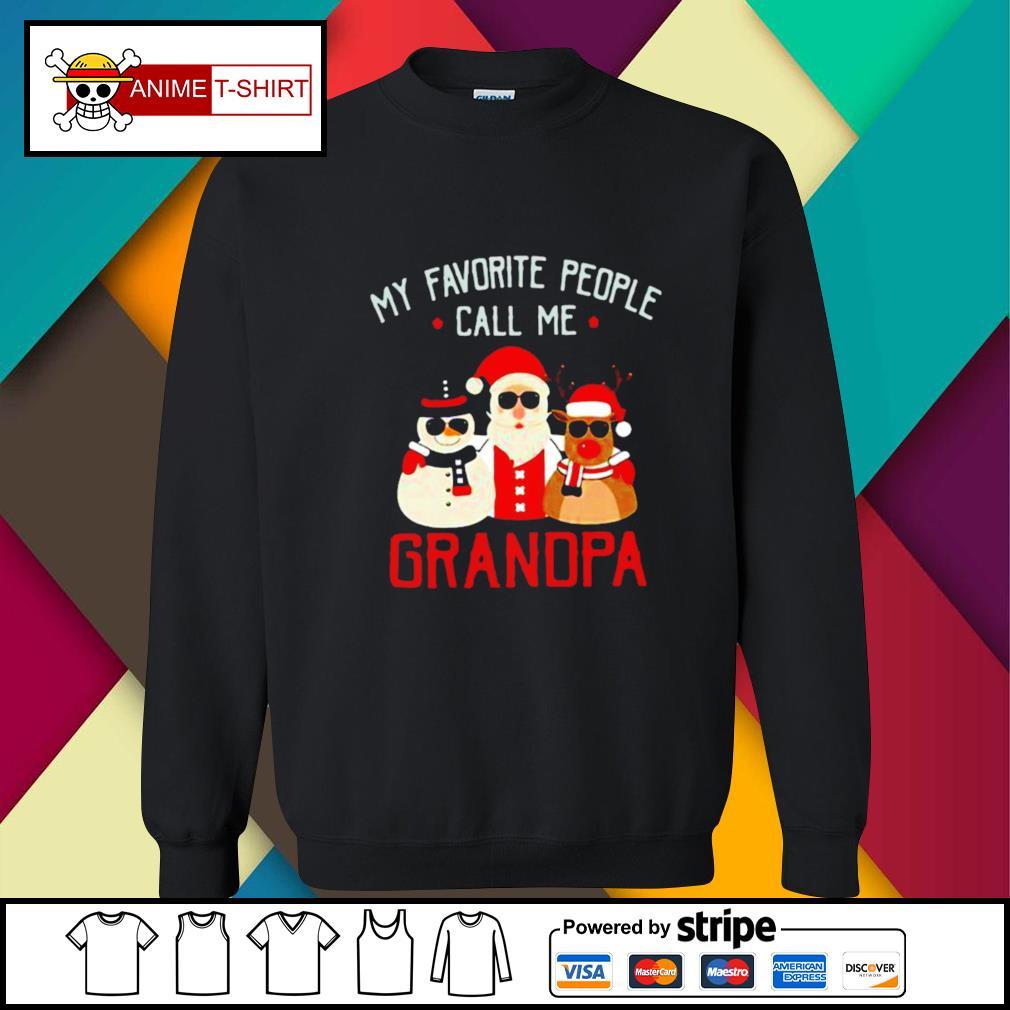 Favorite People Call Me Grandpa Christmas s sweater