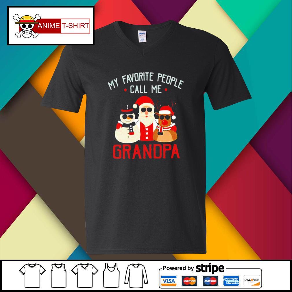 Favorite People Call Me Grandpa Christmas s v-neck-t-shirt