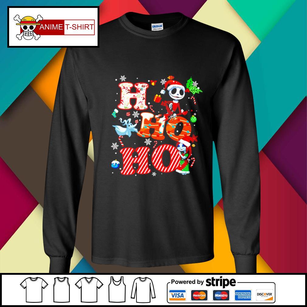 Ho Ho Ho Nightmare Before Christmas Shirt longsleeve-tee