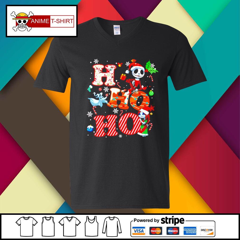 Ho Ho Ho Nightmare Before Christmas Shirt v-neck-t-shirt
