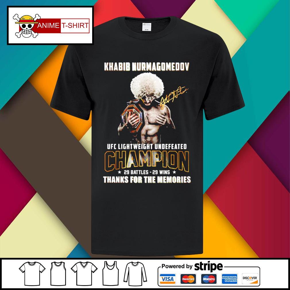 Khabib Nurmagomedov ufc lightweight undefeated champion 29 battles 29 wins shirt