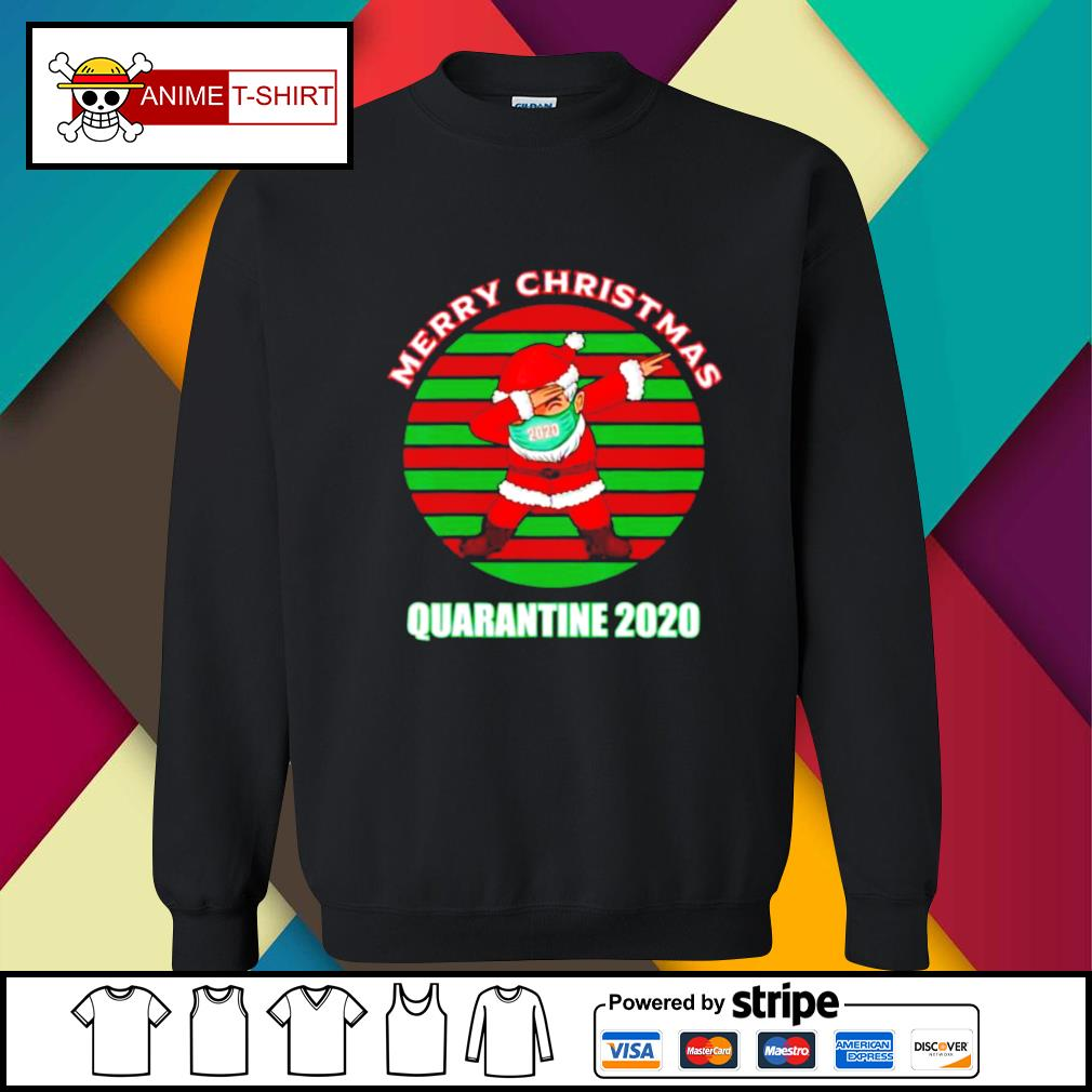 Merry christmas quarantine 2020 dabbing santa ugly vintage s sweater