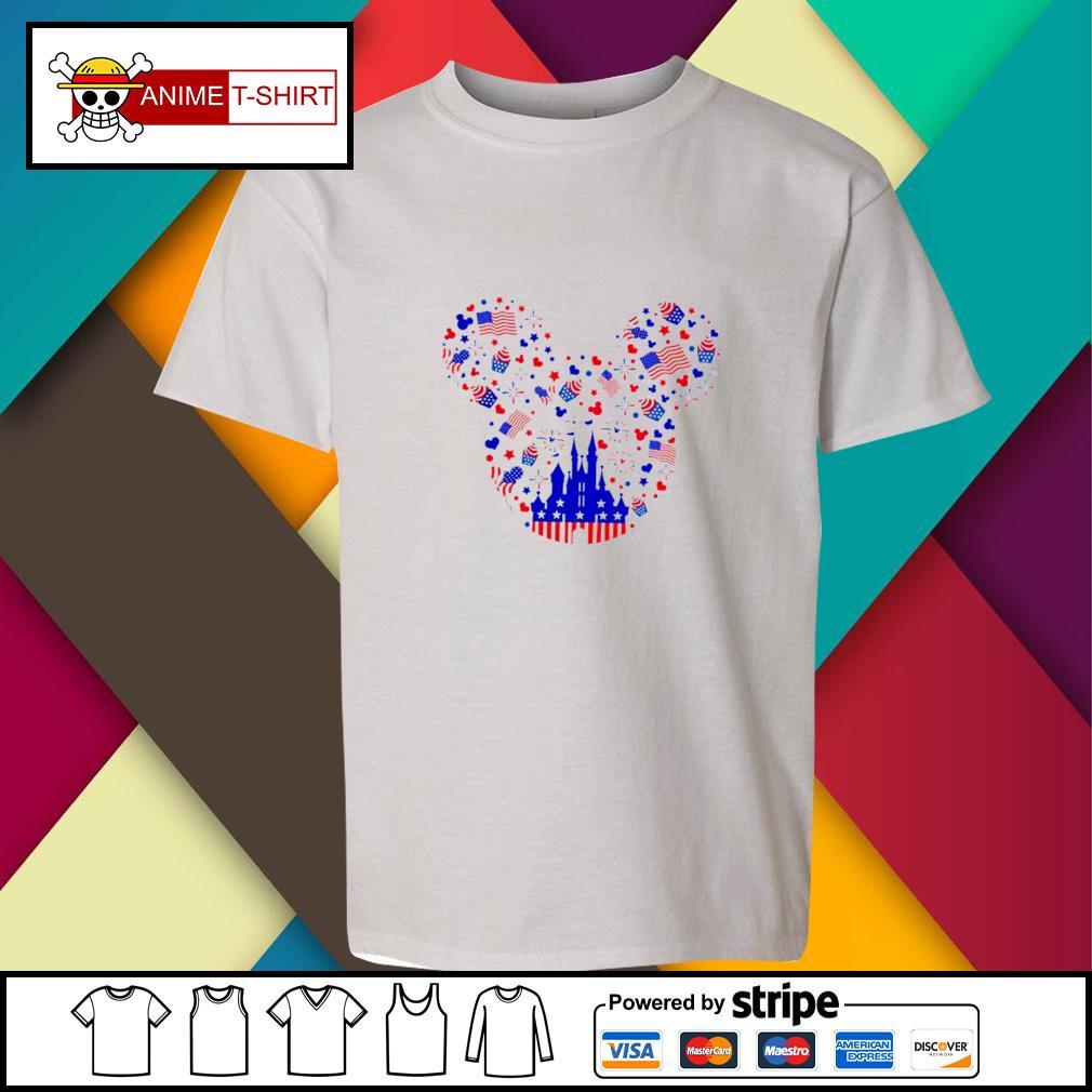 Mickey American Head 4th of July Shirt youth-tee