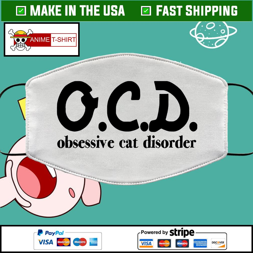 OCD obsessive cat disorder face mask