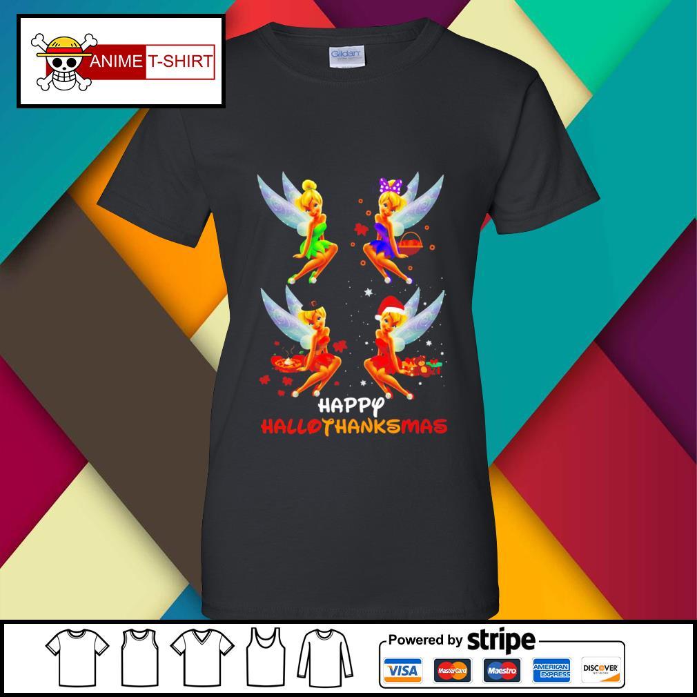 Official Hallothanksmas Tinkerbell Shirt ladies-tee