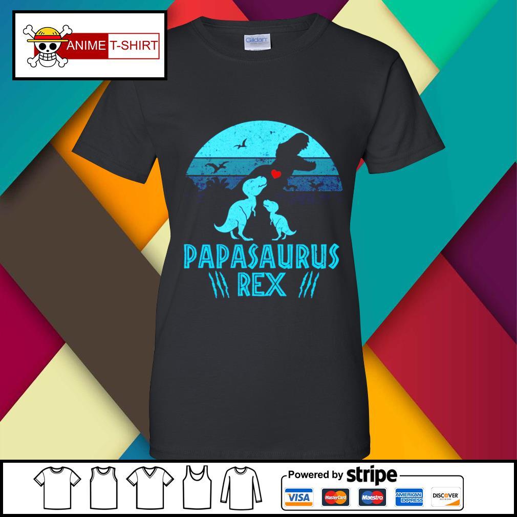 Papasaurus Rex Shirt ladies-tee