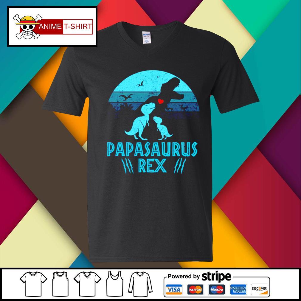 Papasaurus Rex Shirt v-neck-t-shirt