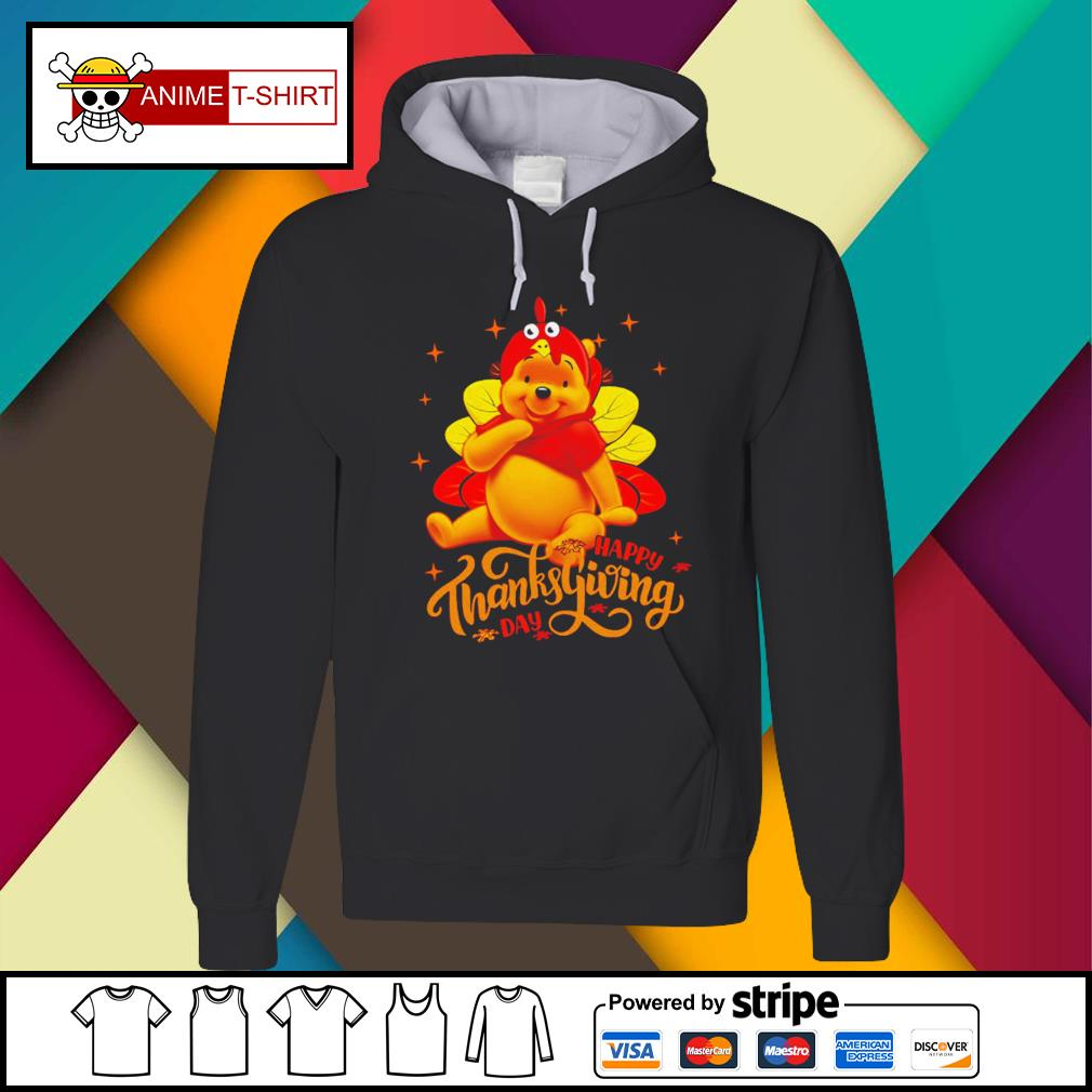 Pooh Happy Thanksgiving Day Shirt Hoodie