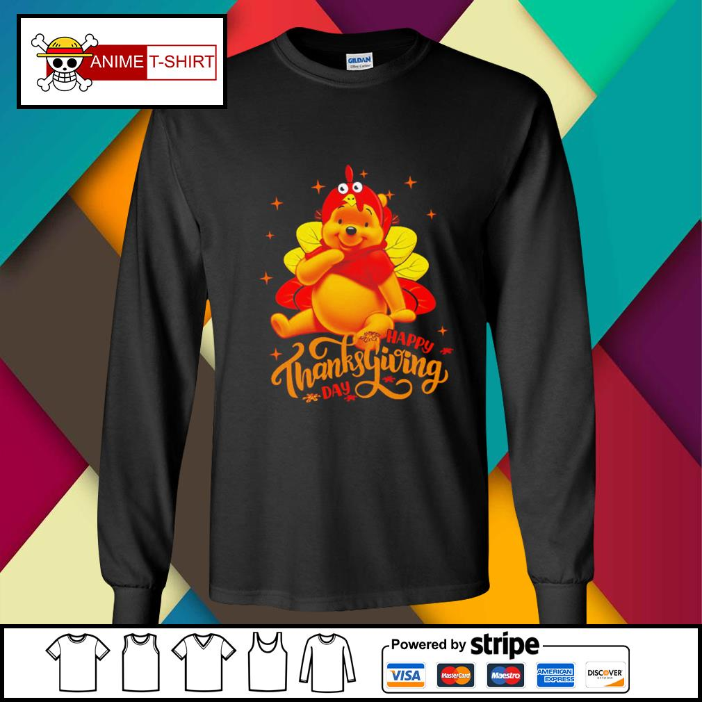 Pooh Happy Thanksgiving Day Shirt longsleeve-tee