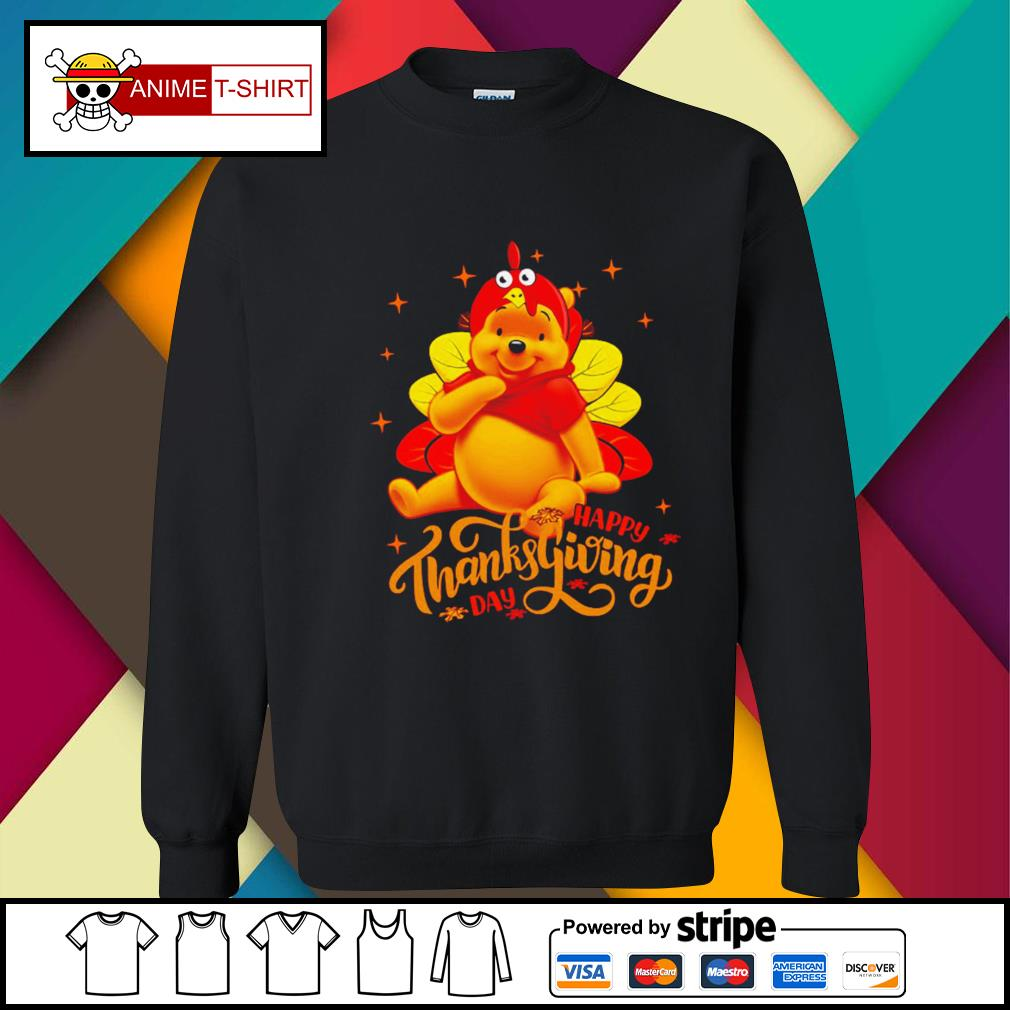 Pooh Happy Thanksgiving Day Shirt sweater