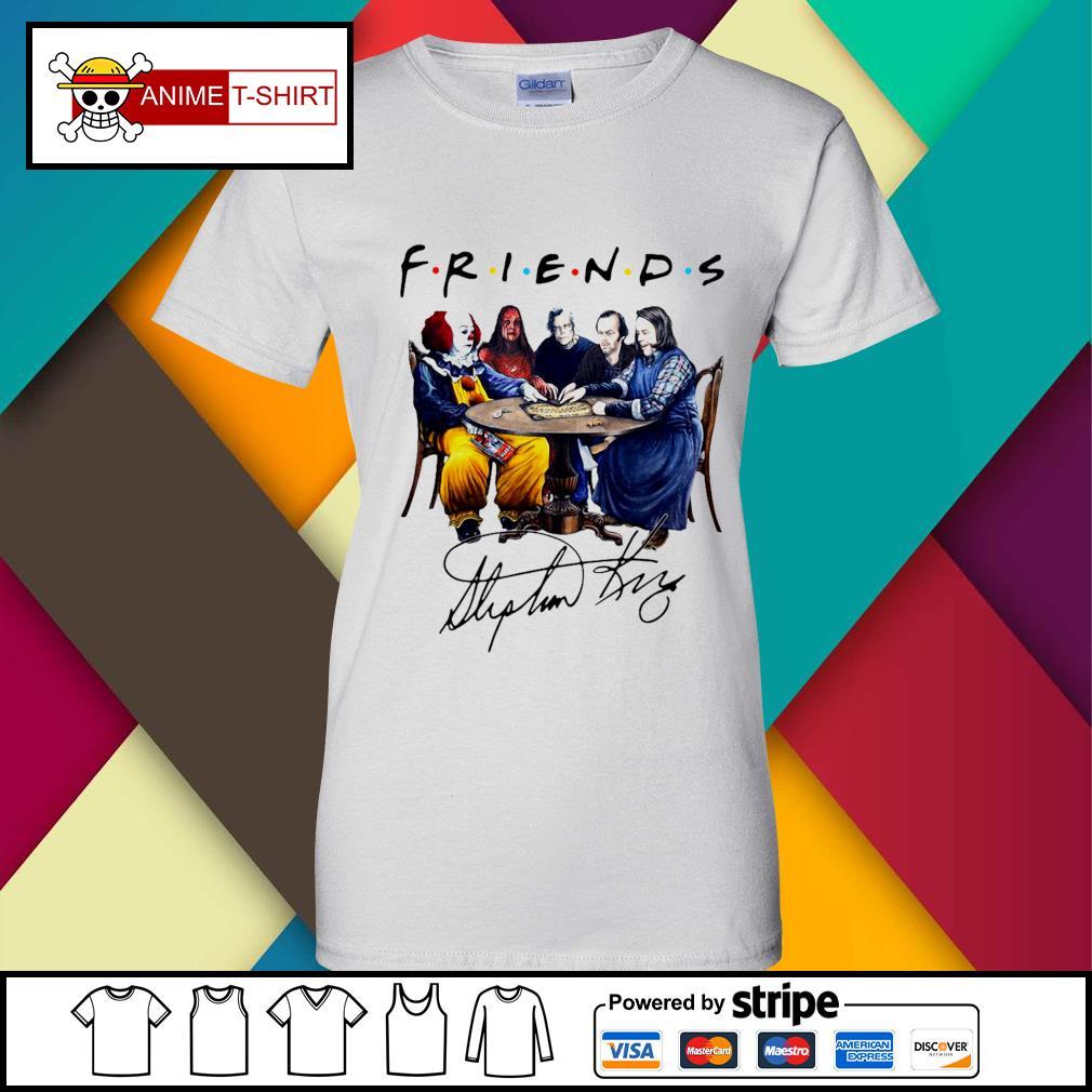 Stephen King Friends Signature Shirt ladies-tee