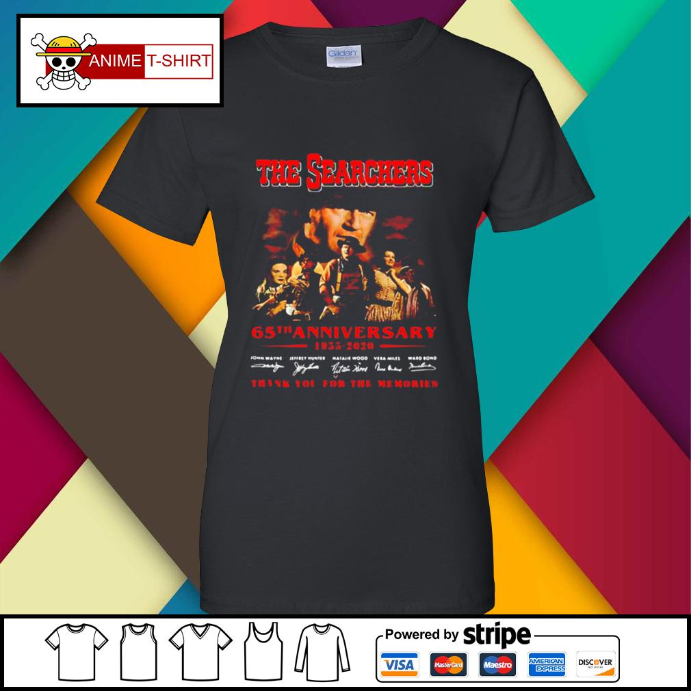 The Searchers 65th Anniversary 1955 2020 Thank You For The Memories Signatures s ladies-tee