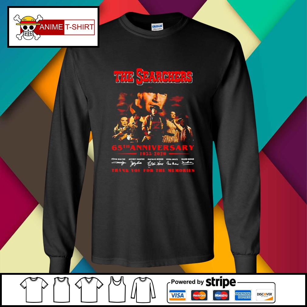 The Searchers 65th Anniversary 1955 2020 Thank You For The Memories Signatures s longsleeve-tee