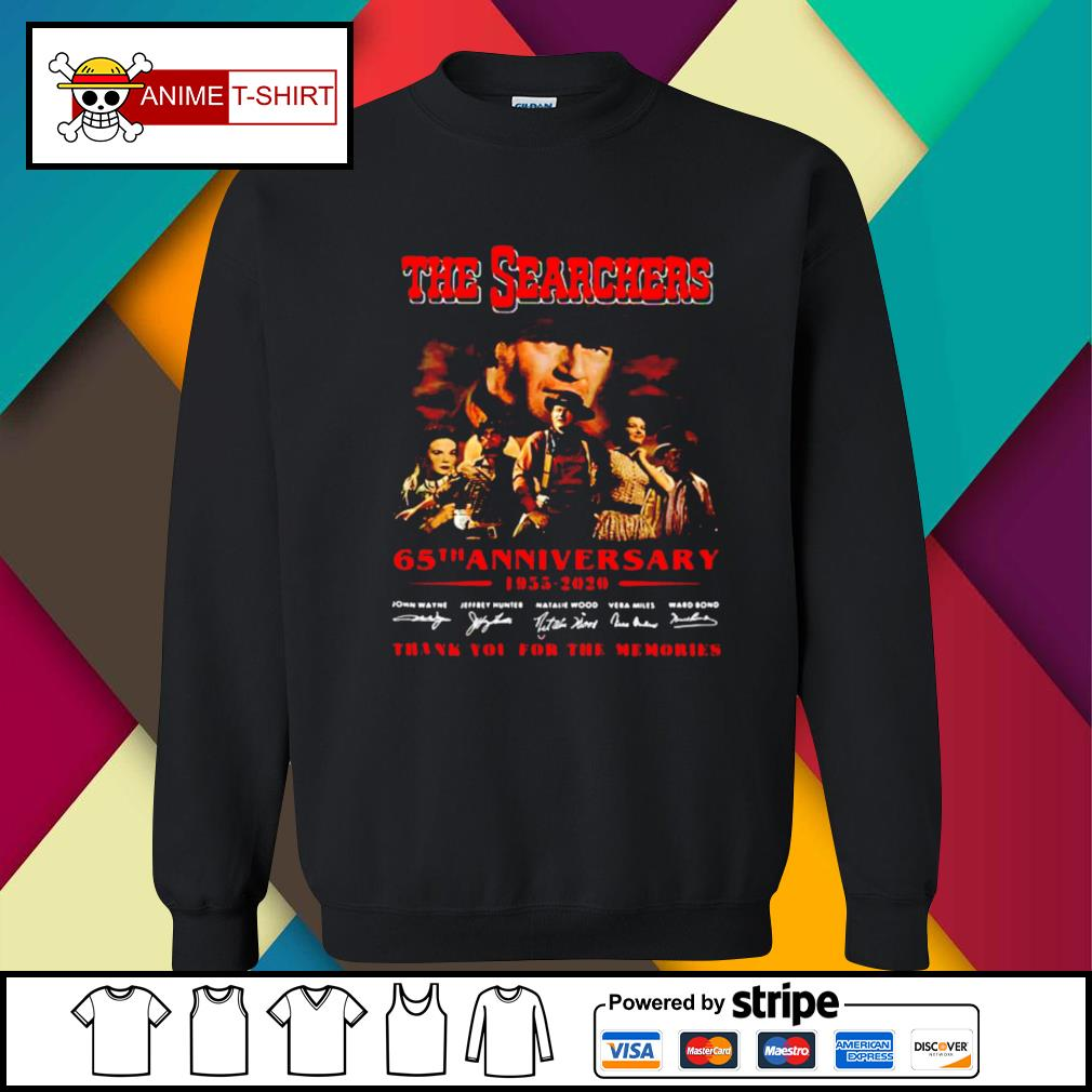 The Searchers 65th Anniversary 1955 2020 Thank You For The Memories Signatures s sweater