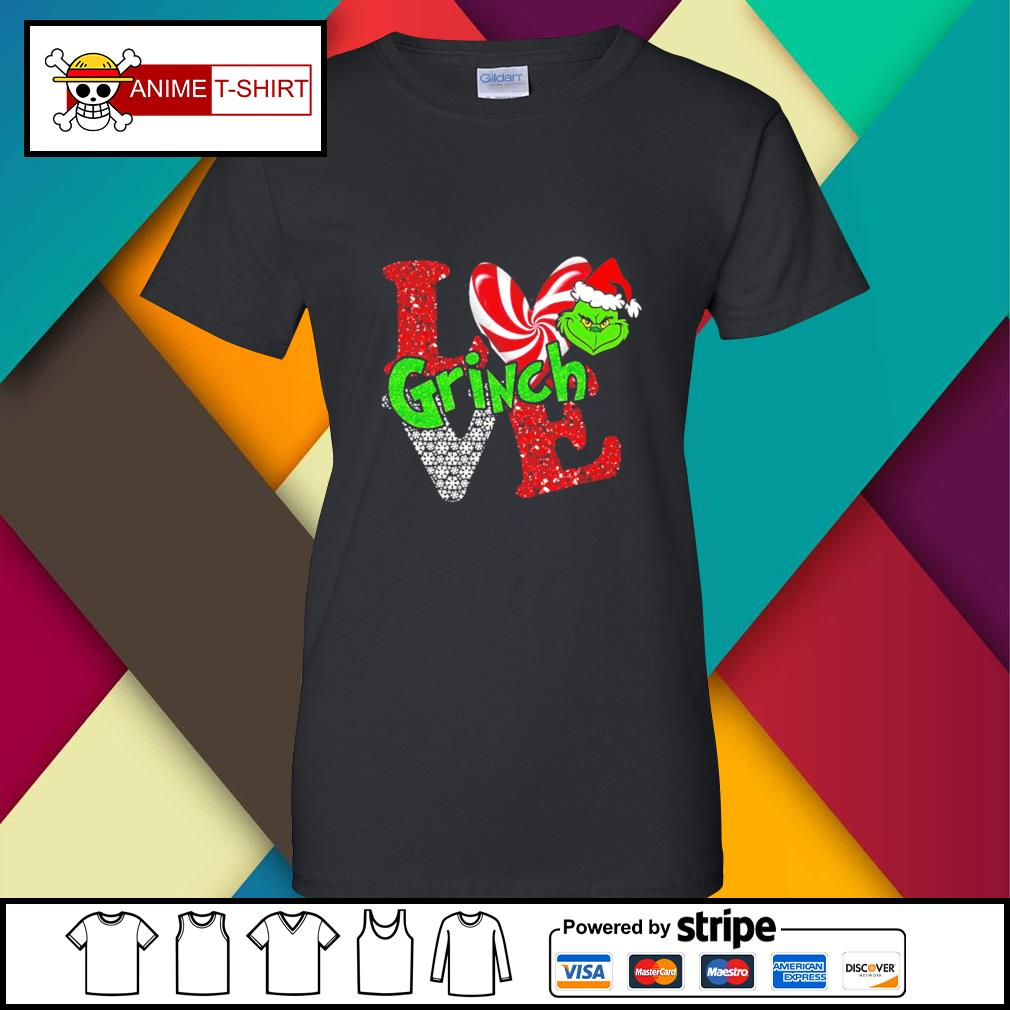 LGBT I love Grinch Christmas s ladies-tee