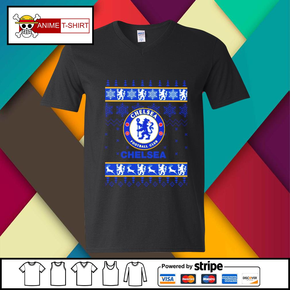 Chelsea Fc Football Club Christmas Ugly Shirt Hoodie Sweater Long Sleeve And Tank Top